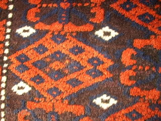 Old wonderful Baluch carpet! Size: 115 x 188 cm. Great design. Full pile. Good condition. Fine knotting.