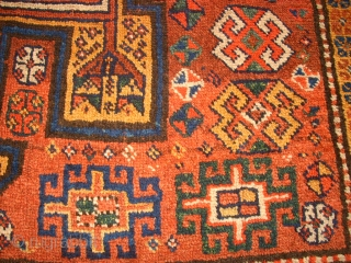 Very old Kordi Quchan rug. Size: 155 x 261 cm. In the middle some low pile. One small repair.