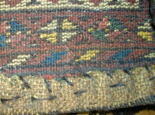 Antique unushual Chanteh Afghanistan. Size: 25 x 26 cm. Used. Colorful.