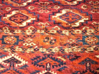 antique Tekke Tshowal. Size: 119 x 77 cm. Very fine.