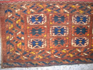 Old Star Ersari Torba. Size: 118 x 27 cm. Good condition. Full pile. Nice one.