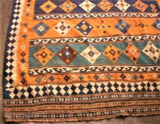 antique southpersian Kilim. Size: 155 x 234 cm.