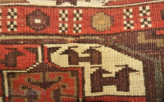 antique Yomud fragment? Size: 149 x 155 cm. Low pile. Used condition.