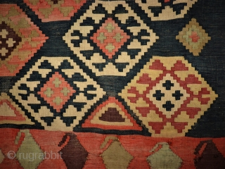 Caucasian Kilim fragment. Size: 127 x 159 cm. Used condition.
