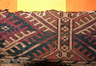HAPPY NEW YEAR!! Tekke rug. Size: 113 x 140 cm. Used rug. Bagside is fixed.