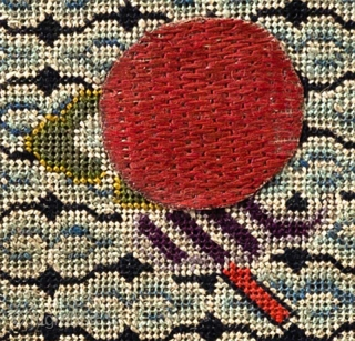 Chinese MILITARY RANK Buzi (pu zi) or 'insignia badge' denoting a military rank of the 5th Level, hand woven on gauze (which suggests it was for a summer robe) from the late  ...