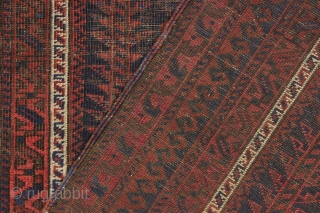Antique baluch prayer rug. Its not often I would put the kelim end as a feature of a rug but in this case it is so fine and delicate. Early blue ground  ...