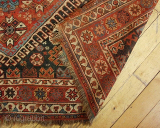 Antique South Persian rug. Very active design with all manner of creatures. Nice squarish size. Pile varies from medium to low. Could use a wash and some restoration. Late 19th c. rug.  ...
