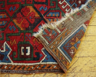 Antique Turkish yastik. All good natural colors. Rough condition but good age, 1880 or earlier.