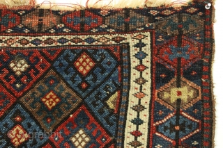 Complete pair of Antique Jaf Kurd bags. Very unusual border. Good pile. All good natural colors featuring a fine yellow and an unusual good apricot orange. Rough edges, some damages as shown.  ...