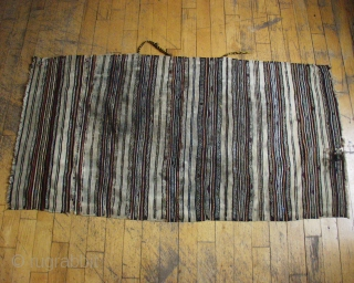 "ANTIQUE MORROCAN HIGH ATLAS SHAWL. NEW ENGLAND FIND.  DIRTY AND ROUGH BUT REAL.  3' X 5"" 6"""