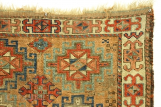 """Antique baluch rug. Sublime object. Looks old and is old. Not good condition as shown. Turkish knotted. No repairs. 3rd quarter 19th c or earlier. 3' x 5'3""""      ..."""