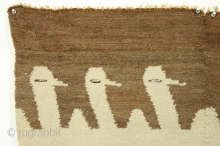 """Another textile fragment from Alpacas r us. Somewhat smaller but no less charming. Last one. 1'8"""" x 3'"""