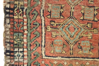 "Antique turkish yastik. Interesting design. Abused condition, picked off a New England floor. Feels old. Good colors. 23"" x 38"""