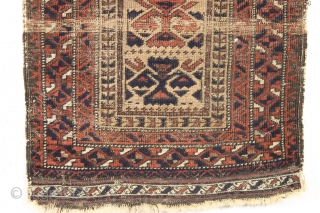 "Antique baluch balisht. Interesting design. Continuing on the cleaning/special theme. Get one soon the supply is limited. 19th c. 20"" x 38"""