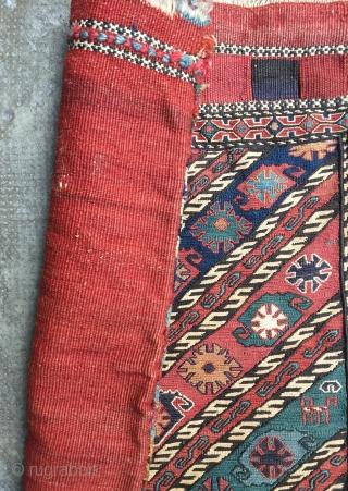 Sumak, Shahsavan, khorjin half with back, countered weaving, good rich colors, 19th c., 51 x 63 cm