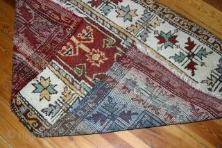 Manastir Prayer rug, around 1920, W/W 165x95 cm. Long thick pile, perfect condition.