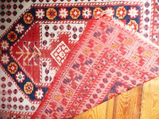 Turkish prayer rug. Ezine/Cannakale region. 120x90 cm. w/w.19th.c. Don't get this rug wrong because its price is so moderate.Very representative for this region, with good colors&pile.They don't go much better than this  ...