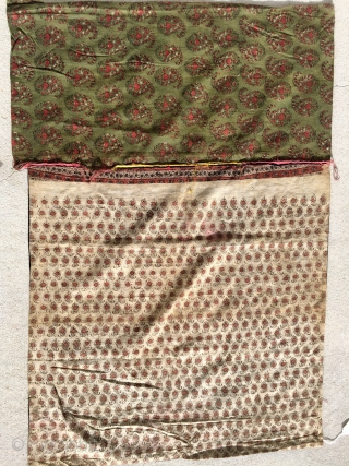 Interesting textile collected in Tibet about 2000.   Not sure purpose but beleive it is an altar cloth or window cover?.  Very plan but note the back which appears to  ...