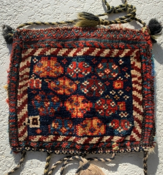 """Nice older chanteh from my collection of over 45 years.  Size 12""""x10.5"""".  All original and with natural dyes."""
