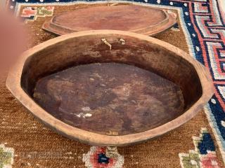 "Nice Tibetan Wooden Box  Collected 2001  12"" x 8"" 5"""