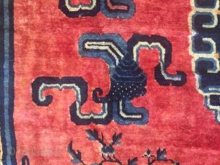 Mid 19th Century Chinese inland carpet 13'- 5'' X 11'- 4''.