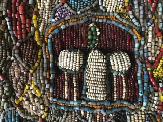 Antique Beaded Yoruba Shango Priest Ceremonial Tunic Masterpiece. More details here: https://wovensouls.com/products/1239-antique-beaded-yoruba-tunic-africa-textile-costume