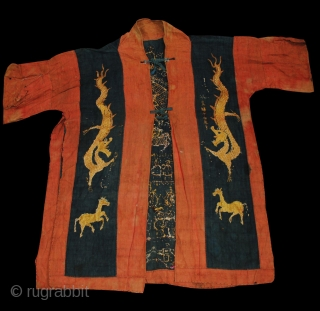 Yao Shaman Priest's Ceremonial Dragon Robe - Excellent motifs. Early-mid 20th century. More information here https://wovensouls.com/collections/name-your-price?page=5&ls=en