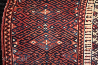 Rare type of Goklan tribe Turkmen saddle rug or 'tscherlik'