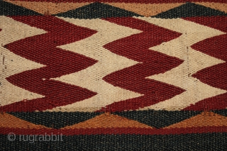Antique Central Asian Uzbek Ghudgeri kilim or 'jajim' woven in seven joined panels with 12 decorated bands. A strong tightly woven kilim with well made, sympathetic small nomadic patched repairs using pieces  ...