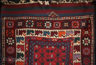 Particularly interesting and unusual West Anatolian Bergama yoruk rug from Kozak village.