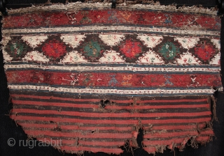 Antique Shahsavan soumac and kilim mafrash panel.