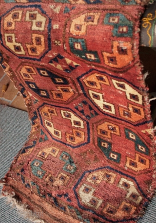 Unusual Uzbek napramash from Samarkand or Nurata. Following some debate about this piece and the difference between Khirgiz and Uzbek khorjins and napramash, the consensus is now that this is an Uzbek  ...