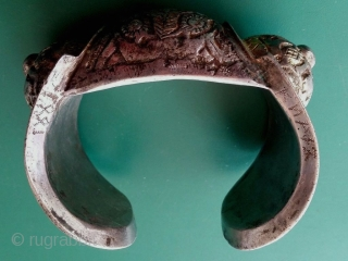 Inscribed and dated 1881, a Bulgarian Ottoman silver bracelet from a collection of 19th century silver bracelets, including other inscribed examples. The design of these bracelets may have developed from Thracian silver  ...