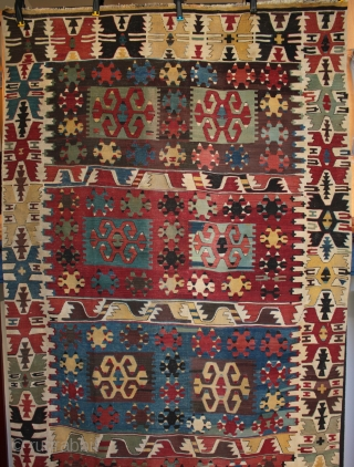 Large mid 19th century central Anatolian kilim