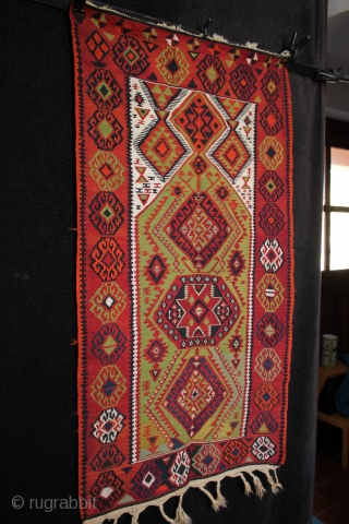 Fine circa 1900 Anatolian Drejan Tribe prayer kilim from Malatya.SOLD  Beautifully woven east Anatolian prayer kilim one of the Drejan Tribe villages of the Malatya region. Excellent drawing and colours from natural dyes,  ...
