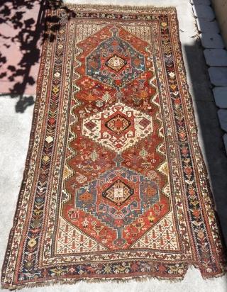 South persian Khamseh confederation rug. Size: 285 X 150cm/ 9,35 X 4,92 feet