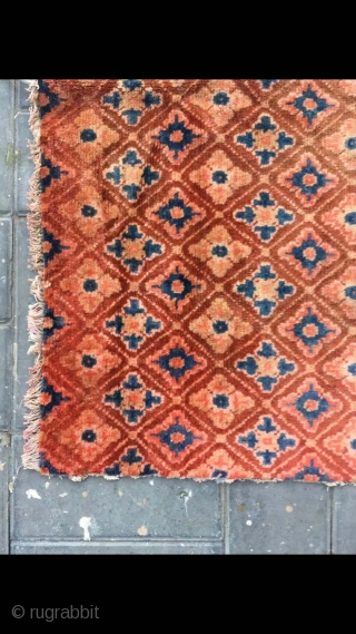 """Chinese rug, it was produced in Suiyuan area. Red colour with full small flowers pattern. Good age and condition. Size 120*200cm(47*78"""")"""