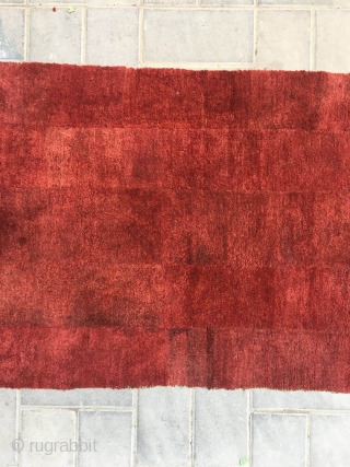 """Tibetan rug, nice red color , very good wool quality, good age, tightly row knitting. Size 155*78cm(60*30"""")"""