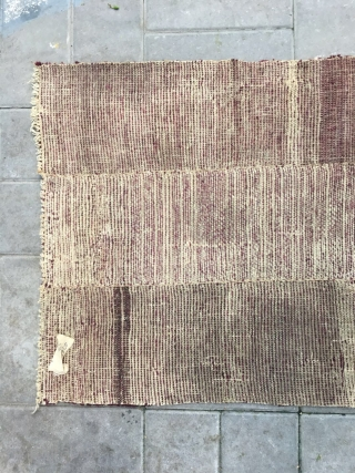 "Rare Tibetan rug in very good condition, rare dark burgendy color, very finely woven. About 150years old. Size 125*65cm(49*25"")"