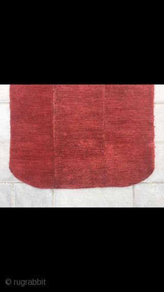 "Tibet rug, sample nice red color, good age and condition. Size 55*72cm(21*28"")"