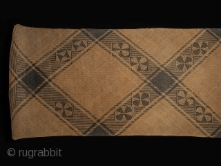 "Rattan sleeping mat, Dayak, Punan people, Kalimantan, Borneo, 27"" (68.5 cm) high by 73.5"" (185 cm) wide, early to mid 20th century