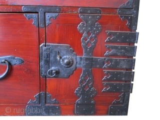 Antique Japanese Nihon Matsu Kasane Tansu Lacquered Keyaki Meiji Era
