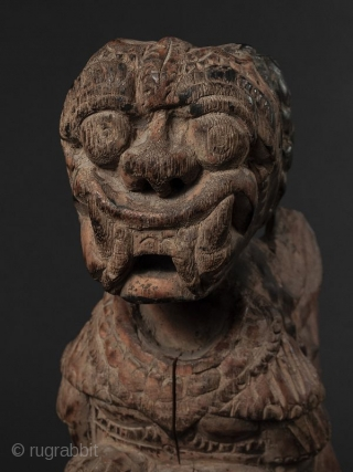 Indonesian Wood Guardian Deity
