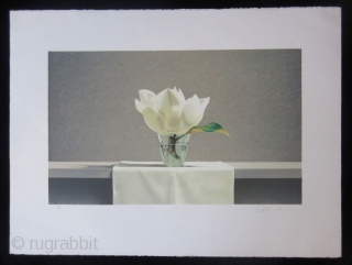 Lithograph Print by Guy Diehl - Still Life Magnolia American artist Guy Diehl, born in 1949 in Pennsylvania, is most famously known for his still life paintings and prints. Diehl's family moved to  ...