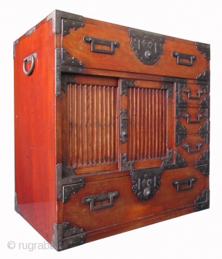 Rare Japanese Antique Choba Tansu with Interior Drawers