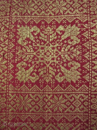 Antique Malaysian Palembang Songket Head Cloth