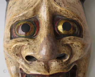 Antique Japanese Hannya Noh Mask