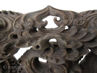 Japanese Mounted Architectural Carving of Waves   A beautiful stand mounted Japanese architectural (corbal) carving of ocean waves. One of this detail and design would have been built into the architecture of a temple.  ...