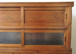 Japanese Antique 2 Section Mizuya (Kitchen Tansu)